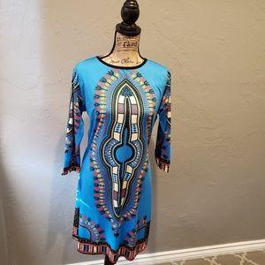 Dresses & Skirts - Women's Blue Dashiki Dress